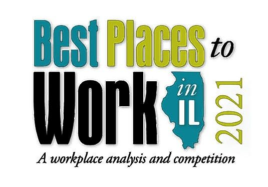 Best Places to Work in Illinois logo 2021