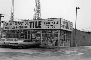 Century Tile's Mount Prospect store at Rand and Central roads is shown in 1972, shortly after it opened.