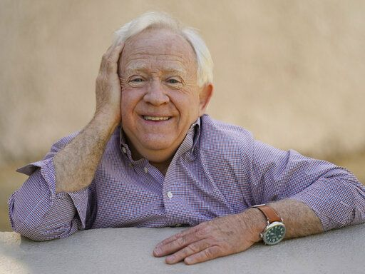 "Actor Leslie Jordan poses for a portrait at Pan Pacific Park in the Fairfax district of Los Angeles on Thursday, April 8, 2021 to promote his new book ""How Y'all Doing?: Misadventures and Mischief from a Life Well Lived."""