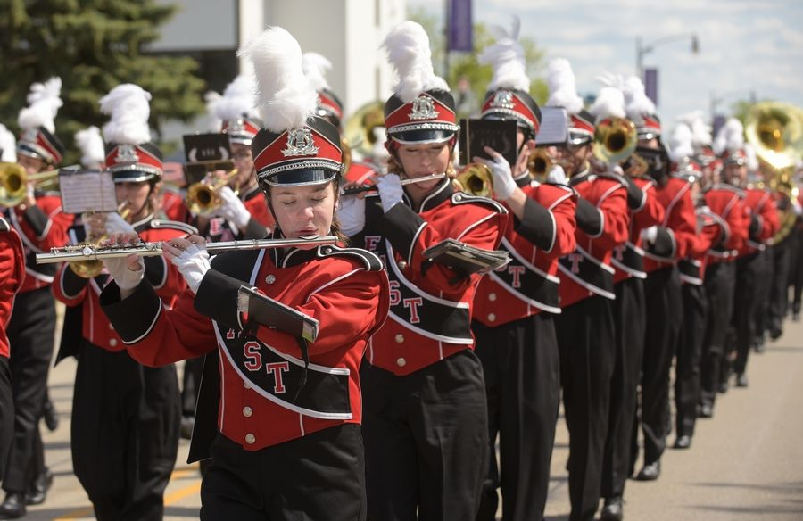 The Glenbard East Marching Band performed in a previous Lombard Lilac Parade. This year's parade has been postponed to Sept. 19.