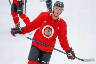There's encouraging news on a possible return next season for Blackhawks captain Jonathan Toews.