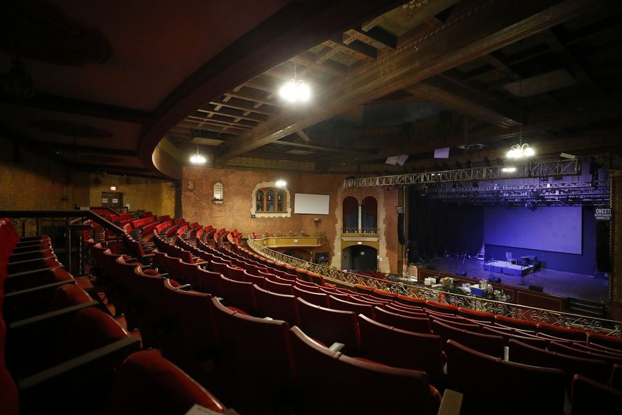 The pandemic-shuttered Arcada Theatre in downtown St. Charles is expected to reopen at limited capacity in mid-July.