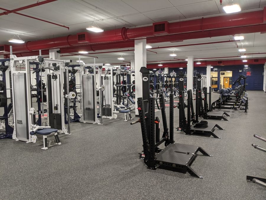 The newly renovated Murphy Wellness Center at Saint Viator High School includes all new equipment for student athletes and PE students.