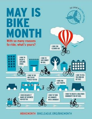May is National Bike Month.