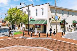 A downtown streetscape in Hampshire will be built this summer and provide an outdoor gathering space for the community.