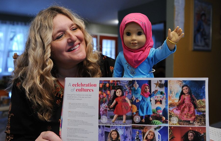 Elk Grove Village resident Yasmina Blackburn helped design the new Eid outfit for the 18 inch dolls as part of American Doll's