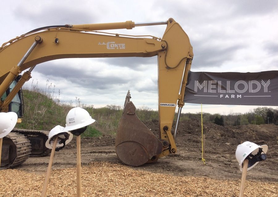 A ground breaking ceremony for the $200 million Mellody Farm development was held Friday in Vernon Hills.