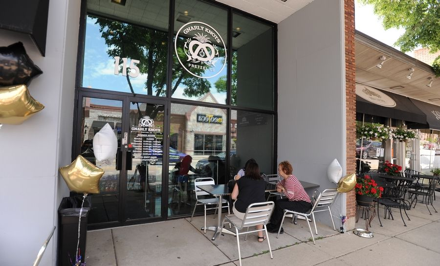Gnarly Knots Pretzels Co. debuted Tuesday in downtown Barrington.