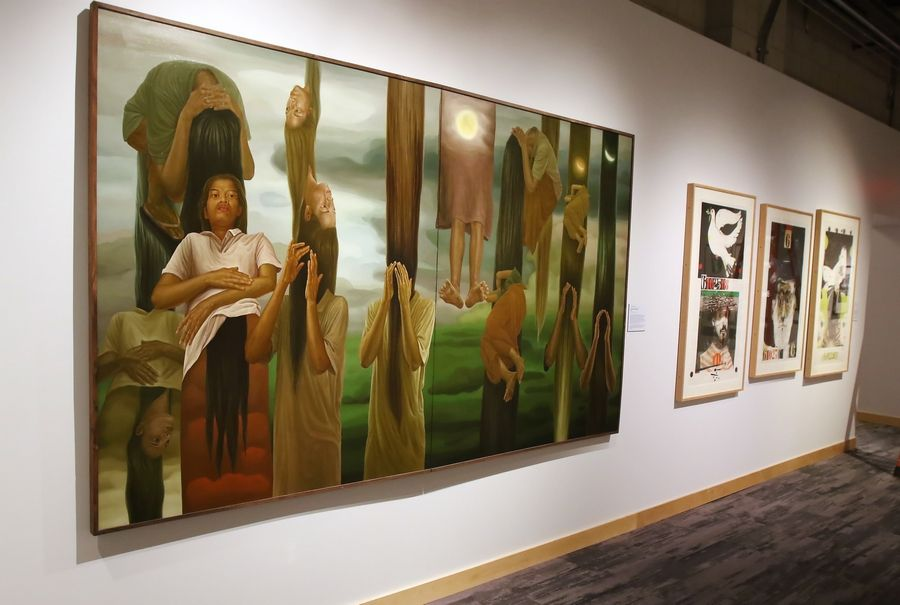 An art gallery is part of the new Take A Stand Center at the Illinois Holocaust Museum & Education Center in Skokie.