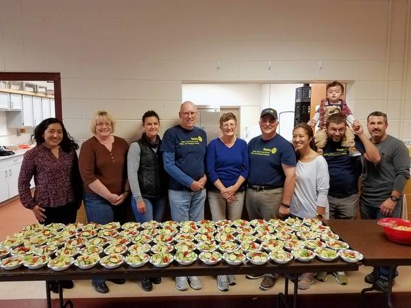 members of the rotary club of long grove kildeer and hawthorn woods served dinner last - Emmaus Canape