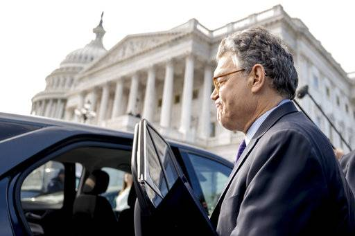 Sen. Al Franken, D-Minn., leaves the Capitol after speaking on the Senate floor, Thursday, Dec. 7, 2017, on Capitol Hill in Washington. Franken said he will resign from the Senate in coming weeks following a wave of sexual misconduct allegations and a collapse of support from his Democratic colleagues, a swift political fall for a once-rising Democratic star.