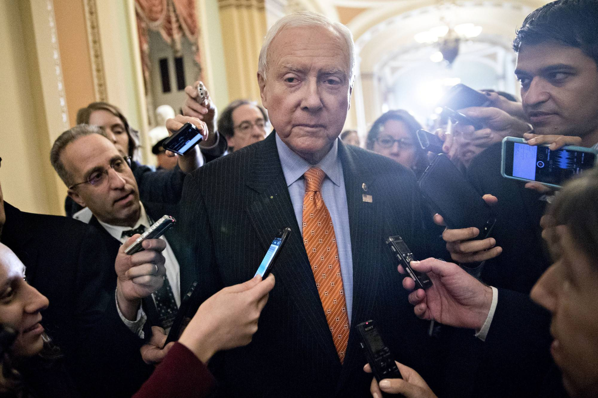 Sen. Orrin Hatch, a Utah Republican and chairman of the Senate Finance Committee, says he will not seek re-election.