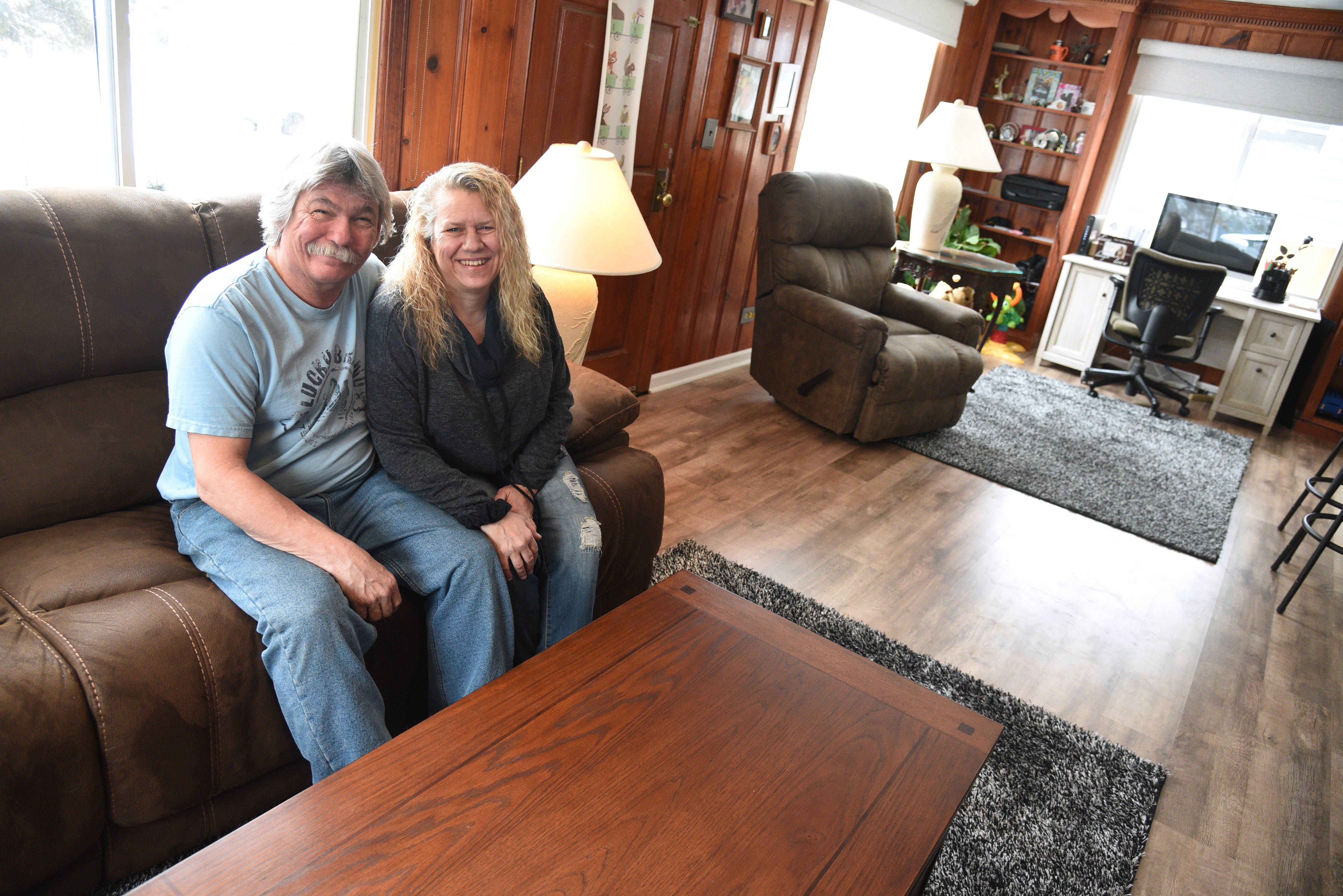 Harry and Amy Walters of Round Lake won a Daily Herald Room For Living makeover package, which included furniture, flooring and window treatments.