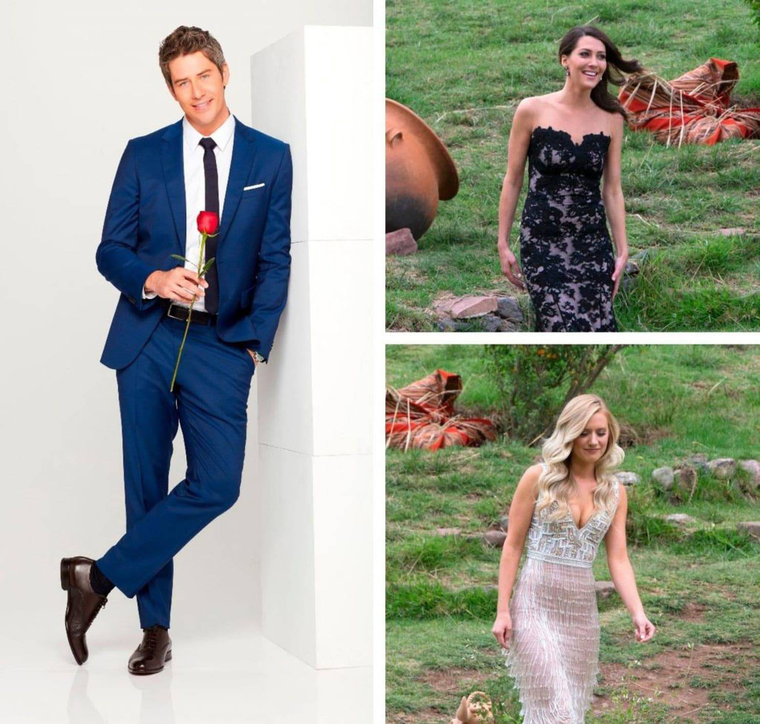 "Arie Luyendyk Jr. had to choose between Becca Kufrin (top photo) and Lauren Burnham in the season finale of ""The Bachelor."""