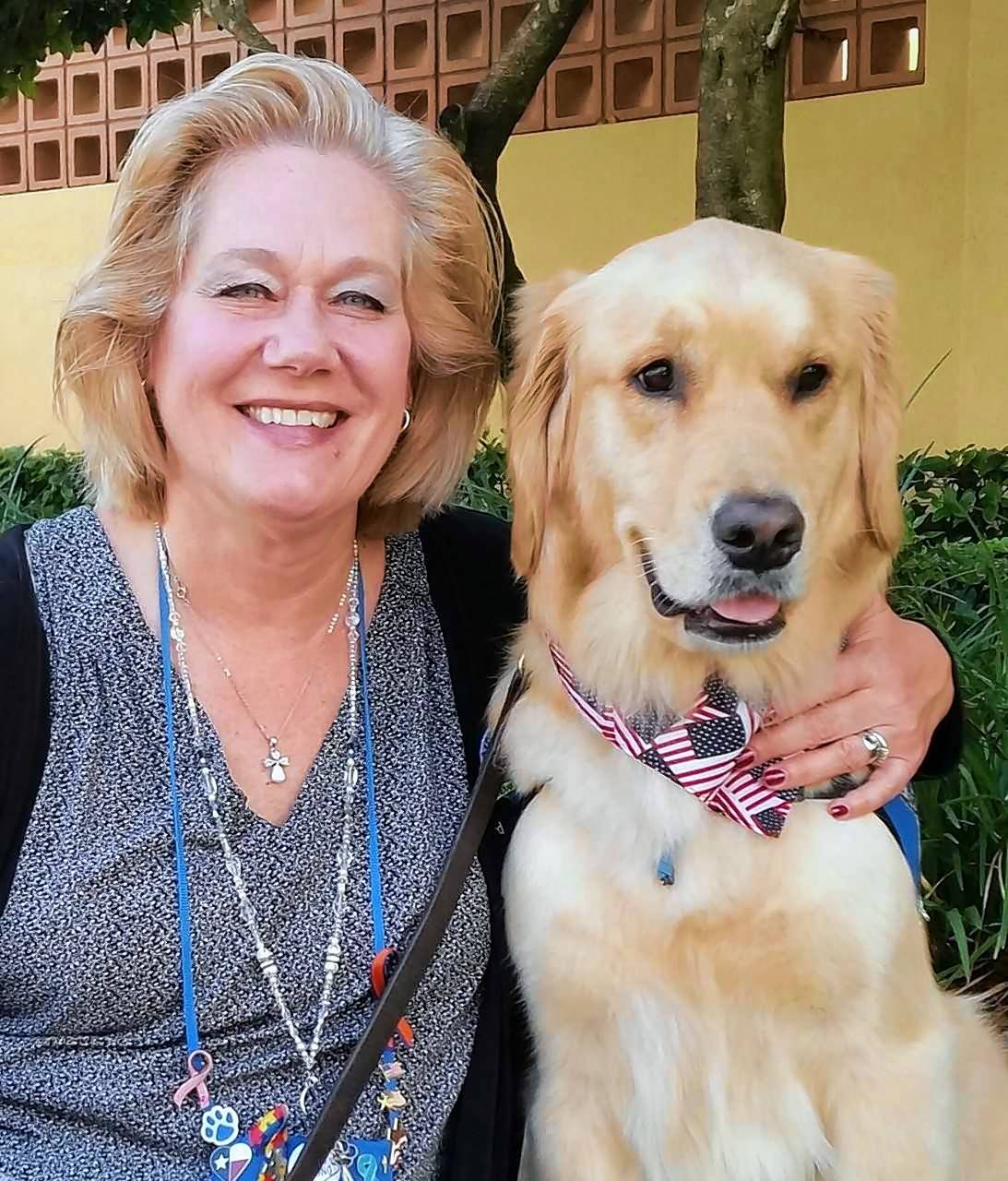Jenni Hoffmeyer of Grayslake and her dog, Tobias, were among those dispatched to Parkland, Florida to offer support in the wake of the shootings at Marjory Stoneman Douglas High School.