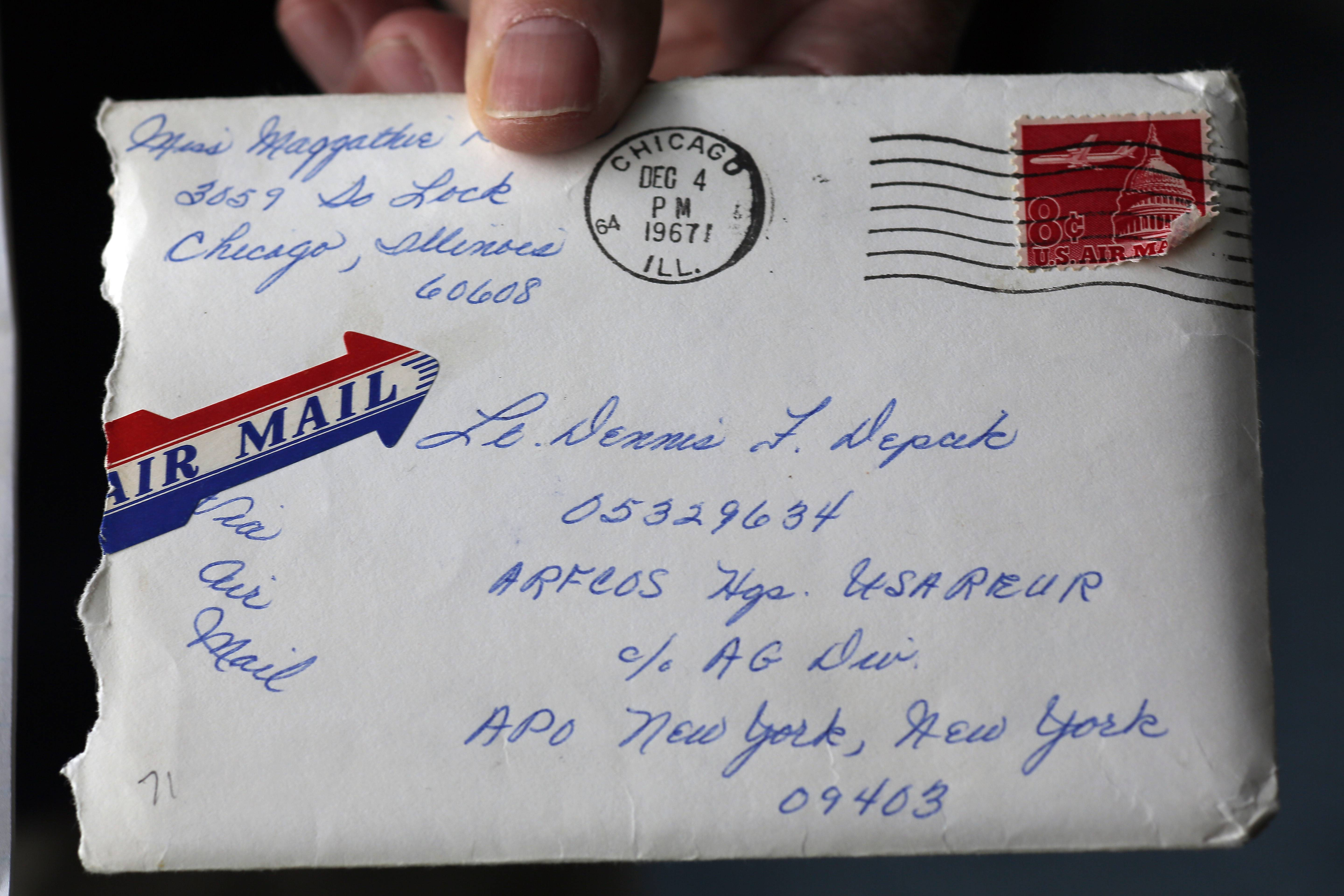 Dennis Depcik of Buffalo Grove found his late wife, Maggie, had kept their courtship letters.