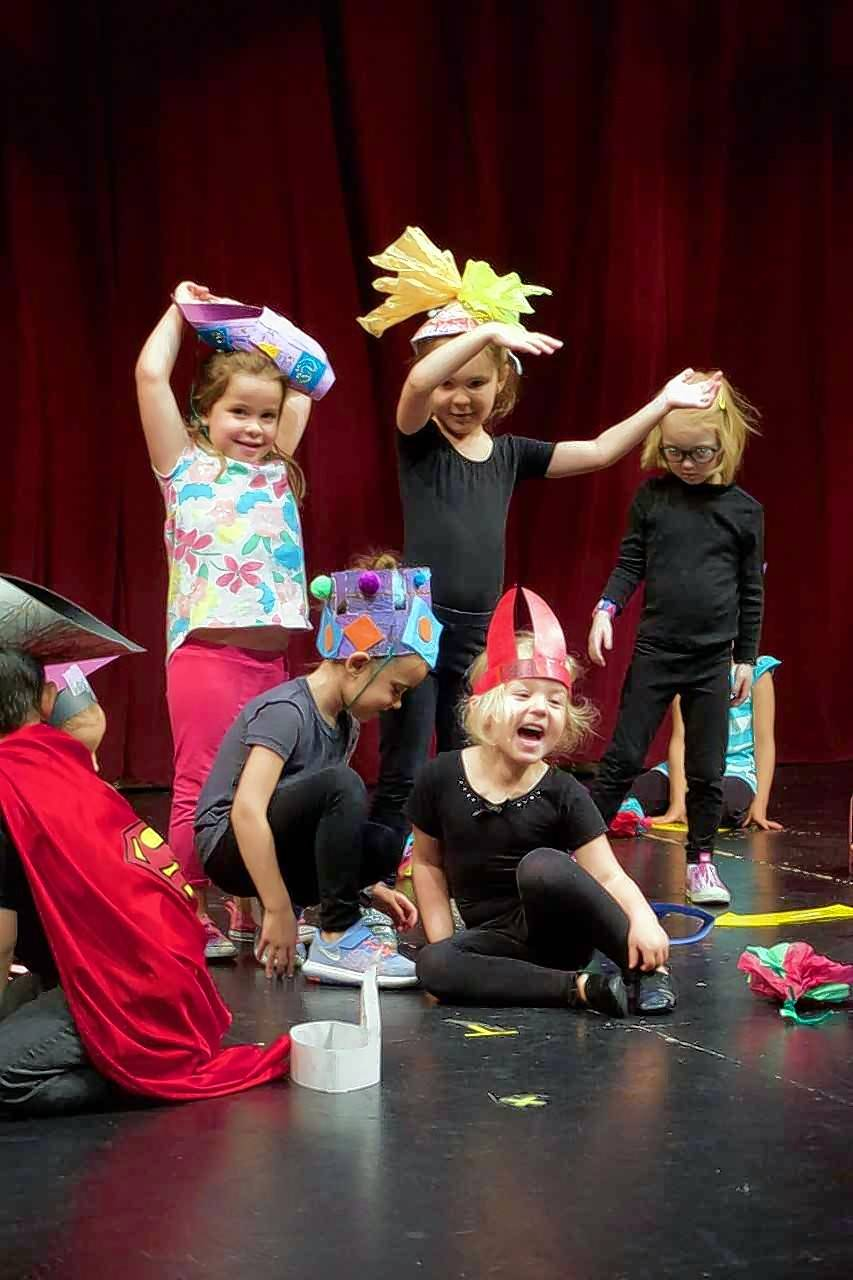 Children ham it up during a performance camp last summer at the Metropolis Performing Arts Centre's main stage. This summer, they will have their own Playhouse Theater to perform in.
