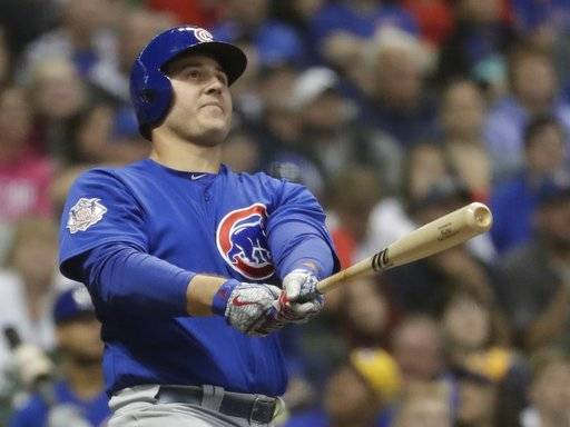 Cubs back in 1st place, beat Brewers 7-2 in 11 innings