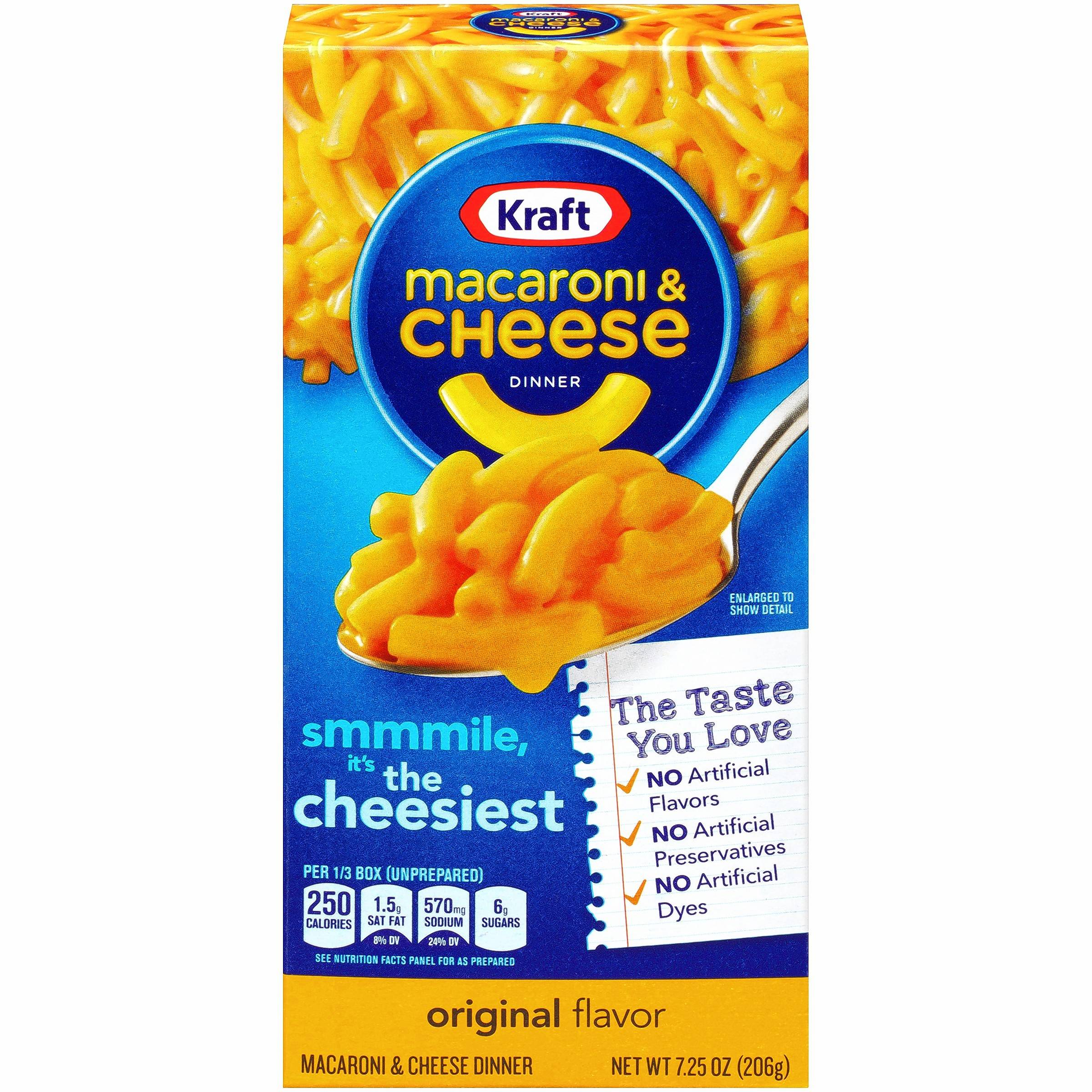 Kraft Mac & Cheese, an item that has been around for more than 80 years, has alternated featuring a spoon and fork on the front of its box.