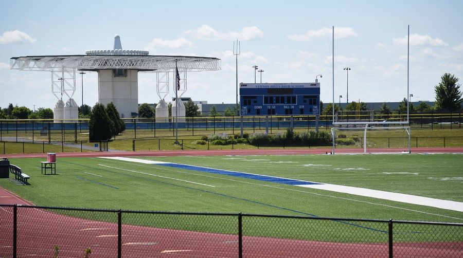 A section of the Vernon Hills Athletic Complex, which includes the Vernon Hills High School football stadium and varsity baseball field.