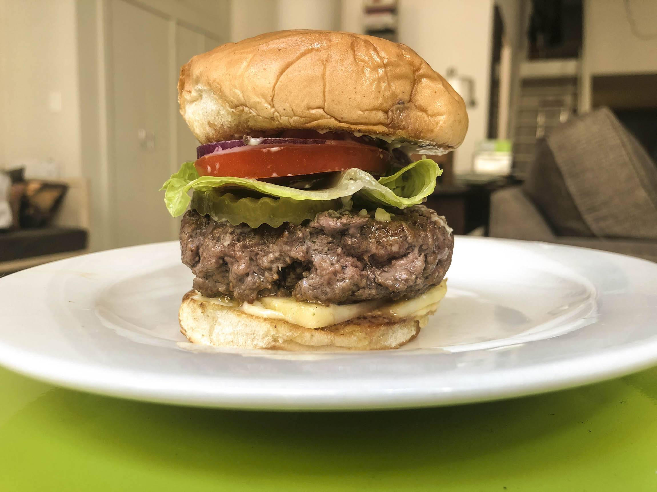 The author made her own version of the Kronnerburger, starring the cheese mayo.