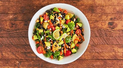 The Spicy Avocado & Lime Bowl at B.GOOD is a favorite at the Boston-based chain's other locations, including in Vernon Hills and Schaumburg. It features kale, veggies, black beans and, of course, lime.