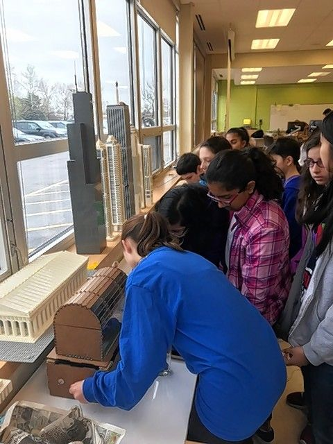 Maple School's Project Lead the Way students visit the Automation and Robotics class at Glenbrook North May 1.