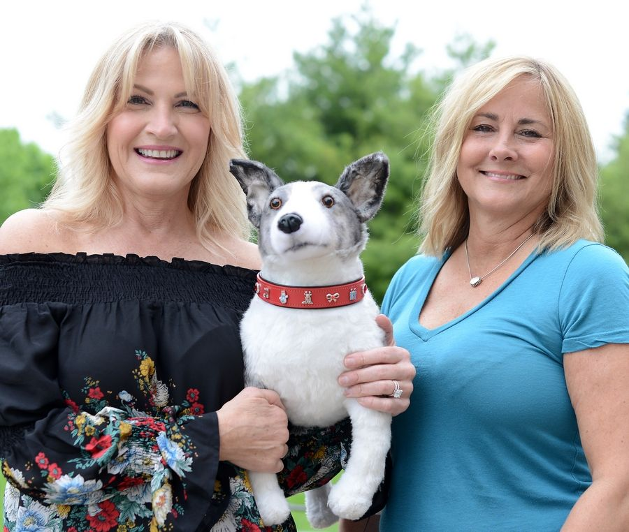 Cheryl Arts, left, and Carla Schultz have started an online business called Concha Collar, which sells customized leather collars for dogs or cats with attachable charms, similar to Pandora bracelets, but for pets.
