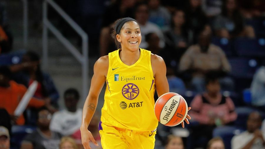 Candace Sparks of the Los Angeles Sparks, here playing in August against the Sky in Chicago, would fit in well with the Sky, columnist Patricia Babcock McGraw says.