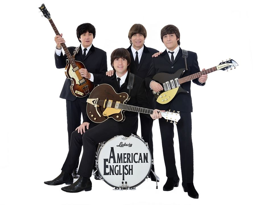 """Popular bands like American English have fallen on challenging times as gigs have dried up because of COVID-19 restrictions. """"Our June dissolved pretty much, and our July dissolved right before my eyes,"""" says Eric Michaels, who portrays Paul McCartney."""
