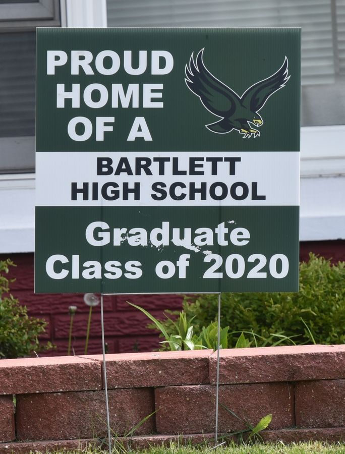 Bartlett High School graduation sign