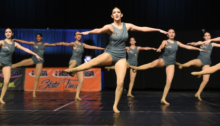 Bartlett High School dancers perform in the Class 3A finals of IHSA Competitive Dance State Finals.