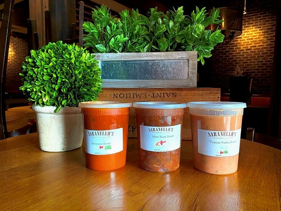 Saranello's in Wheeling is now offering three pasta sauces to-go.