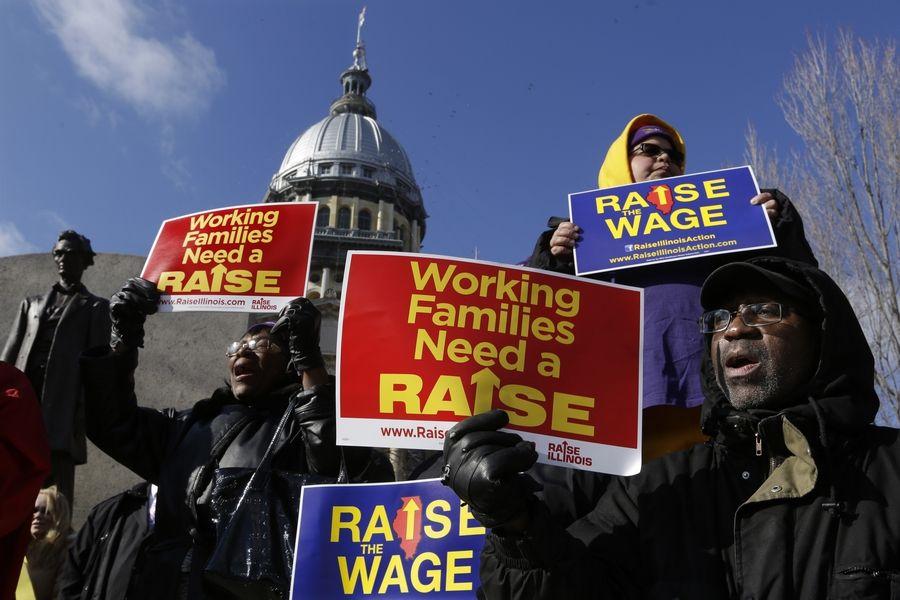 Illinois' minimum wage is increasing from $9.25 an hour to $10 an hour with the aim of reaching $15 an hour in 2025. In Cook County, the minimum wage increases from $12 an hour to $13 an hour.