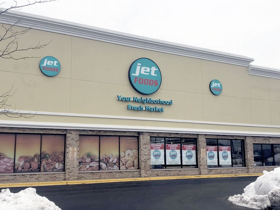 A Jet Foods grocery store is slated to open this month in a former Butera location in the County Farm Plaza shopping center near Army Trail and County Farm roads.