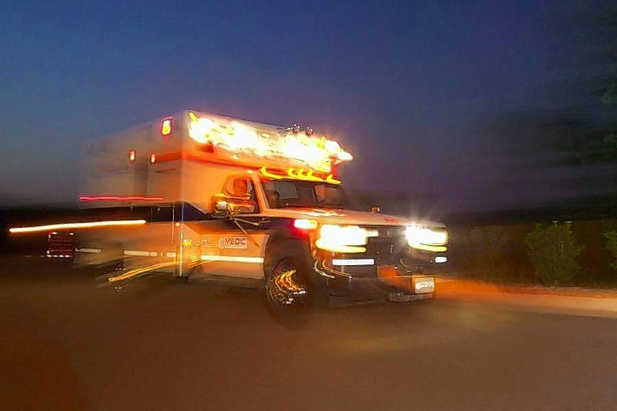 62-year-old man struck by car while driving riding mower
